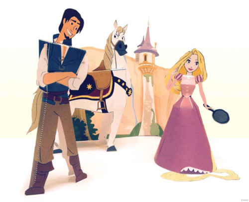 DCL Tangled Paper Craft