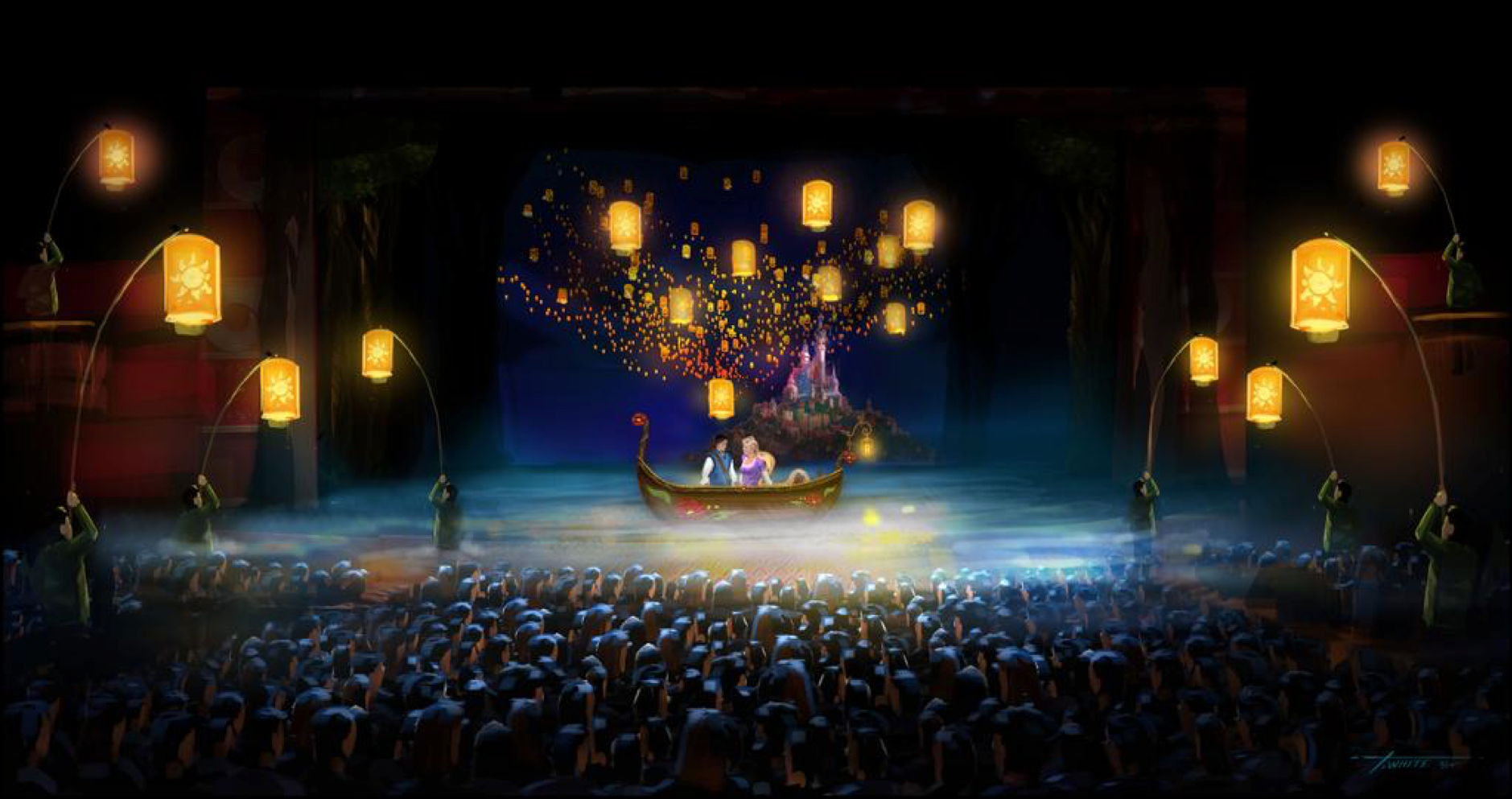Tangled The Musical At Last I See Light Concept Art