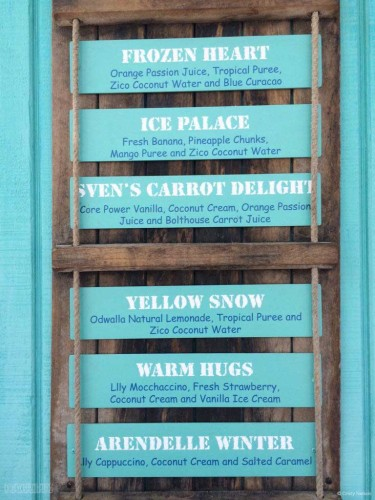 DCL Summertime Freeze Frozen Specialty Drink Menu II