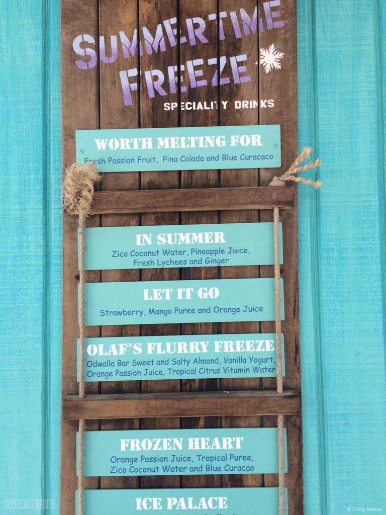 Castaway Cay's Summertime Freeze Menu and Construction Update