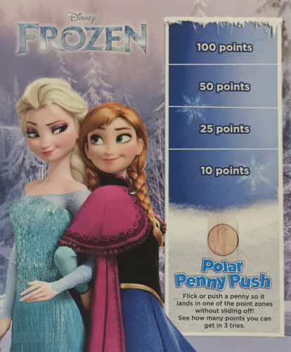 Kids Menu Freezing The Night Away Frozen Cover Magic July 2015