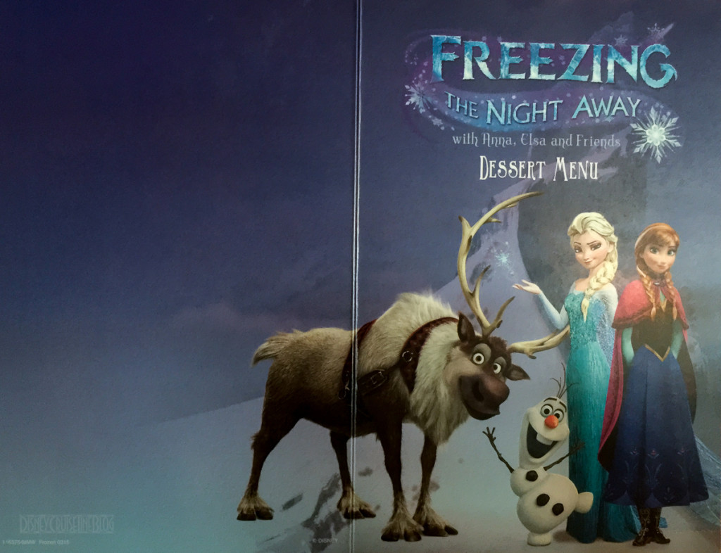 Freezing The Night Away Frozen Dessert Menu Cover Full Magic Jul