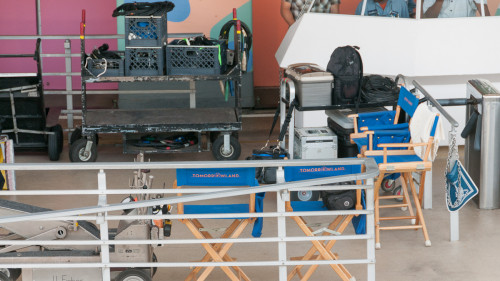 Tomorrowland Filming At Carousel Of Progress WDW Set Chairs