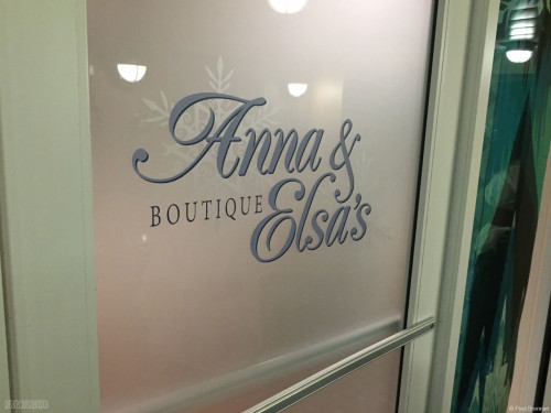 Disney Magic Anna & Elsa's Boutique Door May 2015