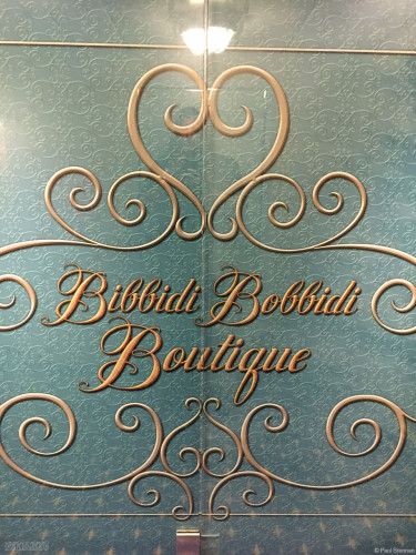 Disney Magic Bibbidi Bobbidi Boutique Sign