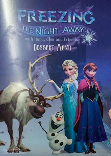 Freezing The Night Away Dessert Menu Cover
