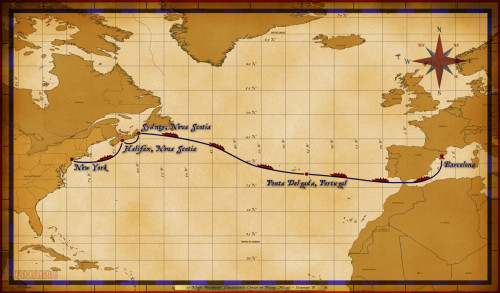 Map Magic 11 Night Westbound Transatlantic Itinerary B
