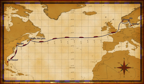 Map Magic 15 Night Eastbound Transatlantic Itinerary A Altered