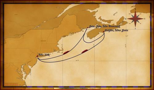 Map Magic 5 Night Canadian Coastline Cruise On Disney Magic Itinerary B