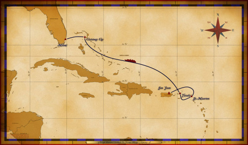 Magic Map 5 Night Eastern Caribbean On Disney Magic Itinerary A