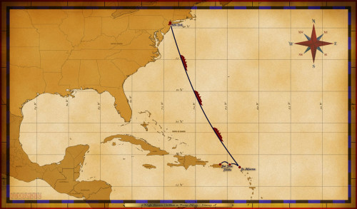 Magic Map 6 Night Eastern Caribbean On Disney Magic Itinerary A