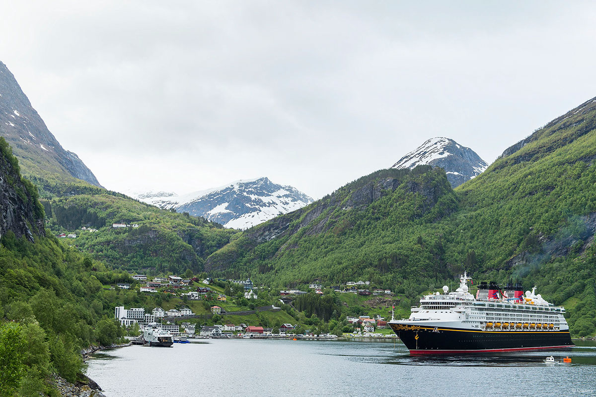 DCL Disney Magic First Call Docking Geiranger