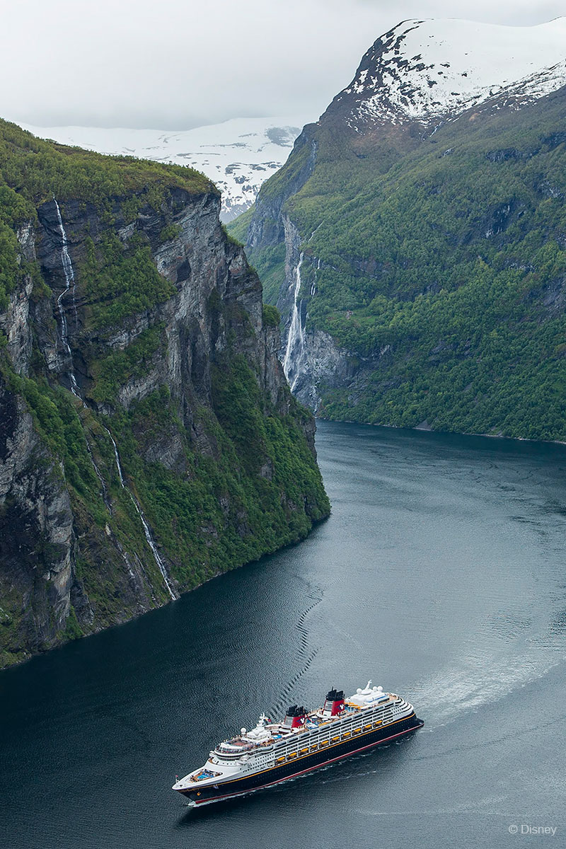 Disney Magic's First Call In Geiranger, Norway