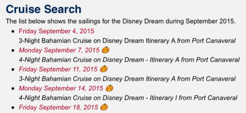 DCLBlog Cruise Search Results