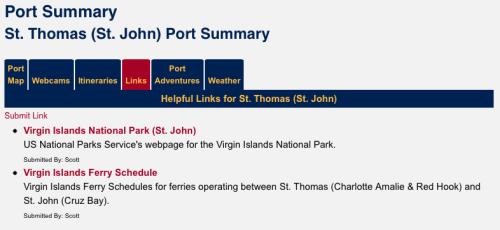 DCLBlog Port St Thomas St John Links