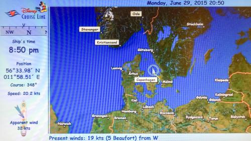 Disney Magic Day 1 Itinerary Map Copenhagen, Denmark