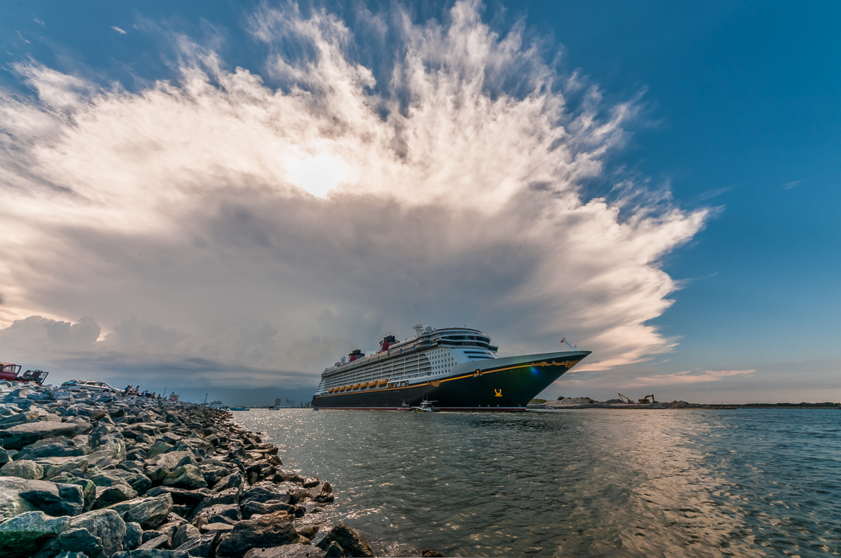 Disney Fantasy Port Canaveral Sail Away Clouds