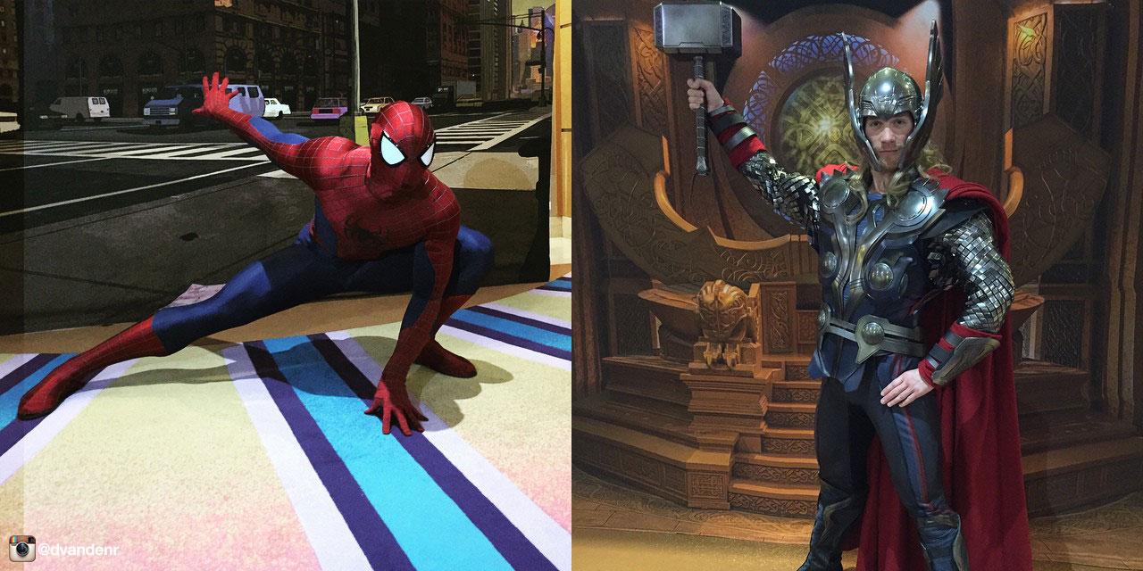 Disney Magic Thor And Spider Man Instagram Dvandenr
