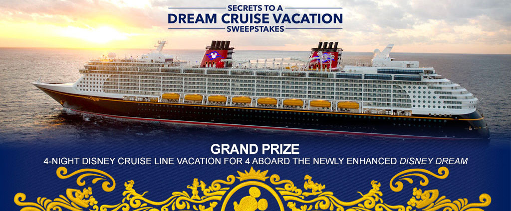 Secrets to a Dream Cruise Vacation Sweepstakes - Enter to Win a