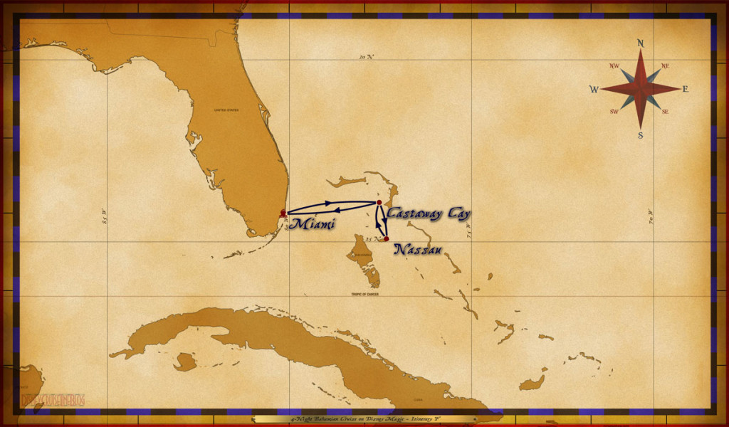 Map Magic 4 Night Bahamian Cruise Itinerary F Revised