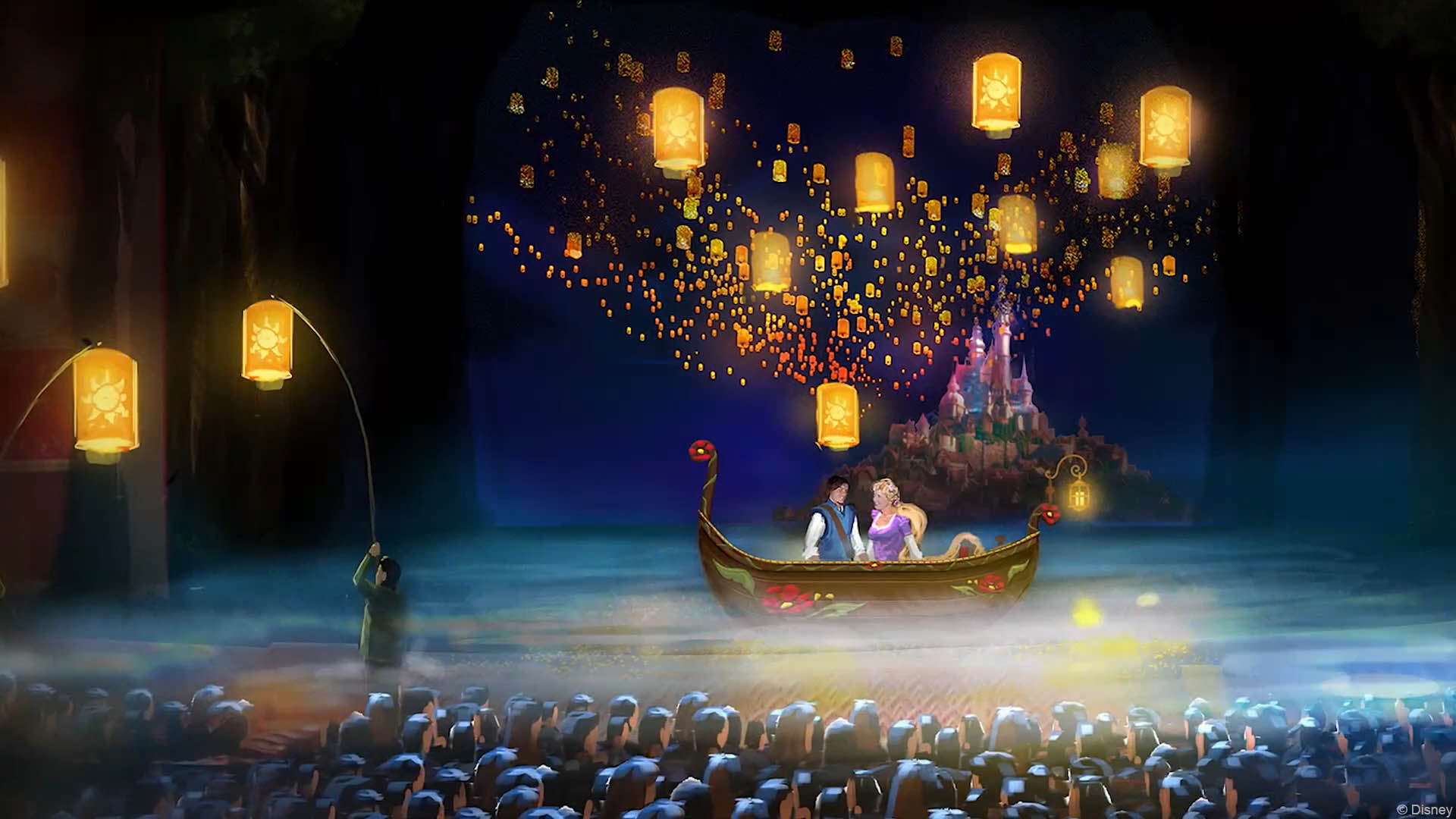 Disney Princess Wall Mural A Closer Look At The Set Designs For Tangled The Musical