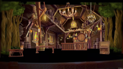 DCL Tangled Musical Set Theatre Snuggly Duckling Interior Mockup