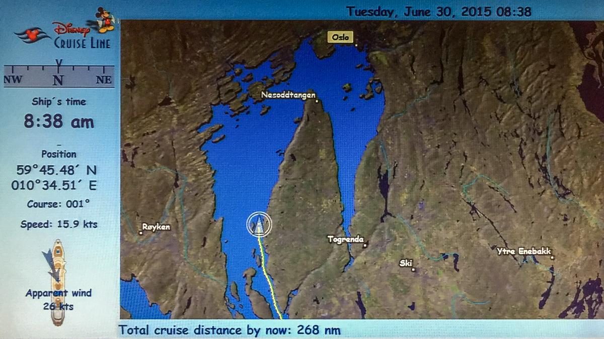 Disney Magic Stateroom Map Oslo, Norway June 30 2015