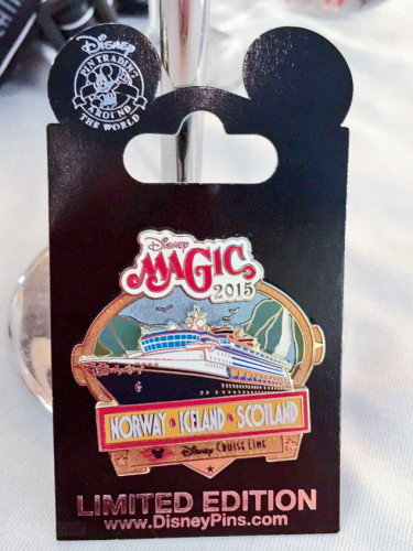 Disney Magic 2015 Norway Iceland Scotland Limited Edition Pin