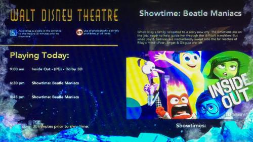 Walt Disney Theatre Inside Out