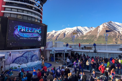 Freezing The Night Away Deck Party Disney Magic Akureyri