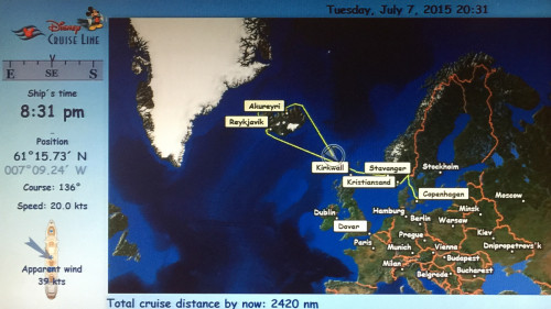 Stateroom Map Magic Almost Kirkwall Evening July 7 2015
