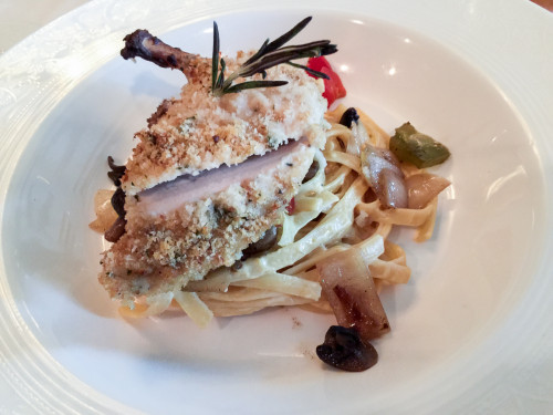 Captain's Gala Fettuccine With Parmesan Crusted Chicken