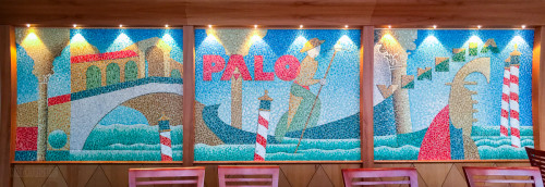 Palo Private Room Mosaic Tile Wall Disney Magic