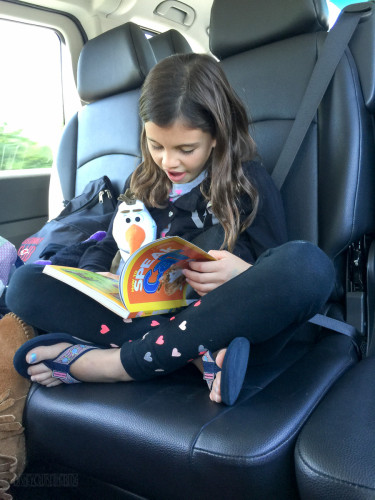 Reading In The Van ON The Way To Gatwick