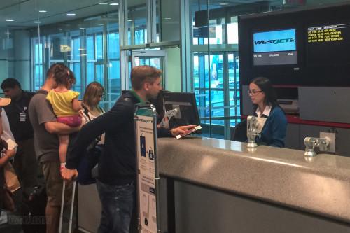 WestJet Magic Plane At Toronto Gate