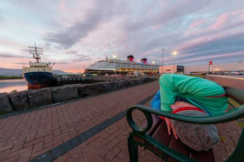 Sleeping On A Bench In Reykjavik, Iceland Disney Magic