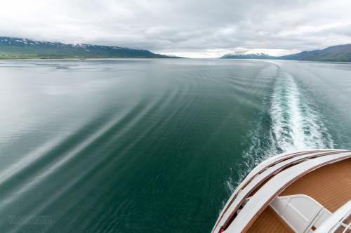 Disney Magic Sailing Into Akureyri