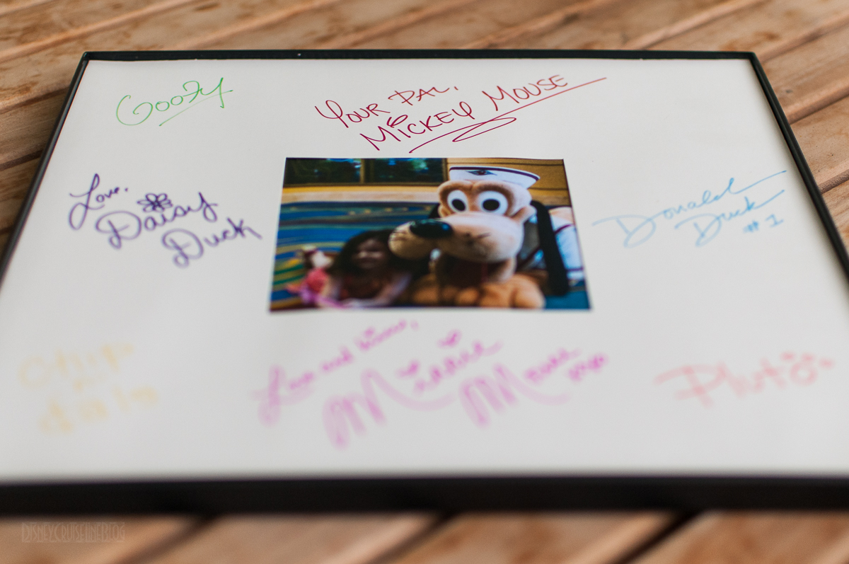 DCL Mickey Mail Autographed Picture Frame