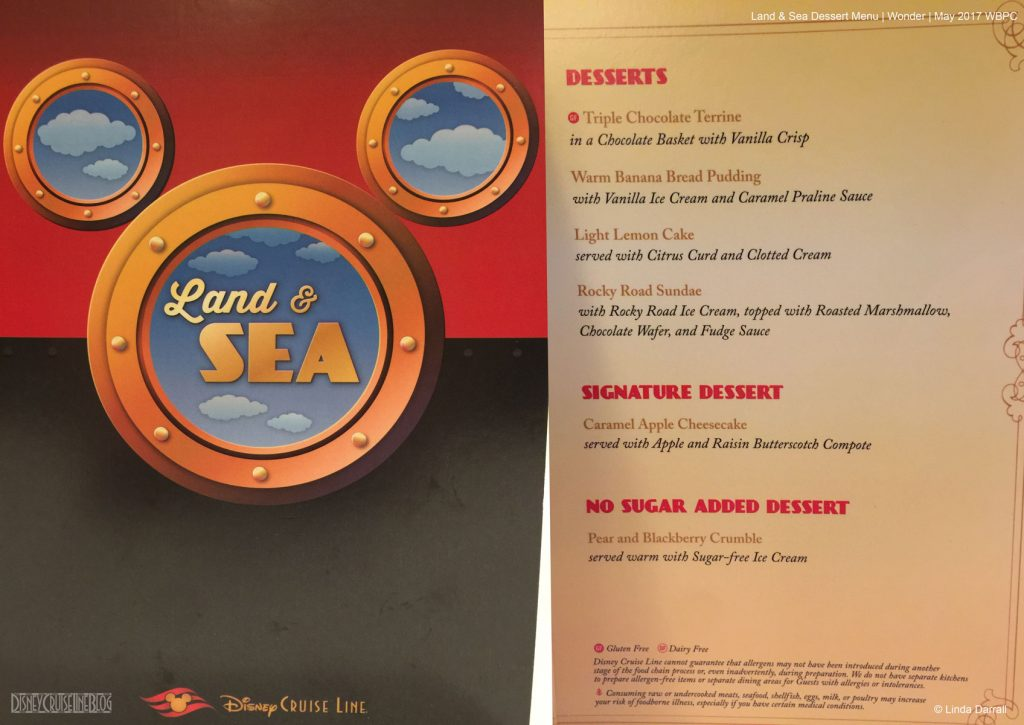 Land Sea Dessert Menu Wonder May 2017