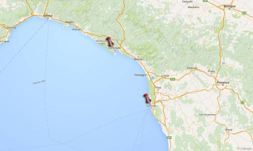 Livorno La Spezia Italy Google Map