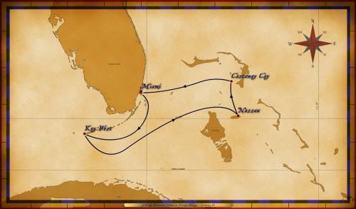 Map Magic 4 Night Bahamian Cruise Itinerary H