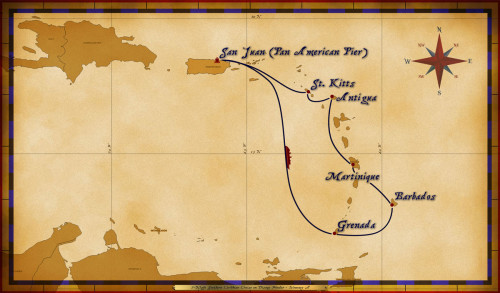 Map Wonder 7 Night Southern Caribbean A Revised