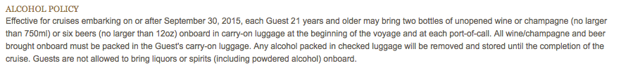 DCL Alcohol Policy Change September 30 2015