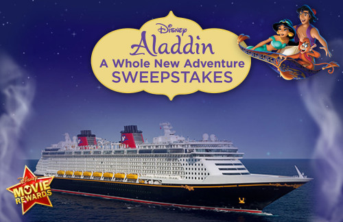 DMR Aladdin A Whole New World Sweepstakes