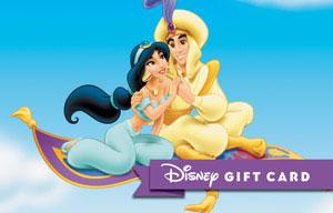 DMR Aladdin A Whole New World Sweepstakes Aladdin Jasmine Disney Gift Card