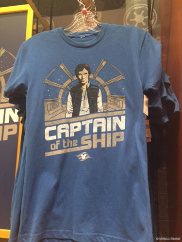 Disney Cruise Star Wars Captain Of The Ship Han Solo Shirt