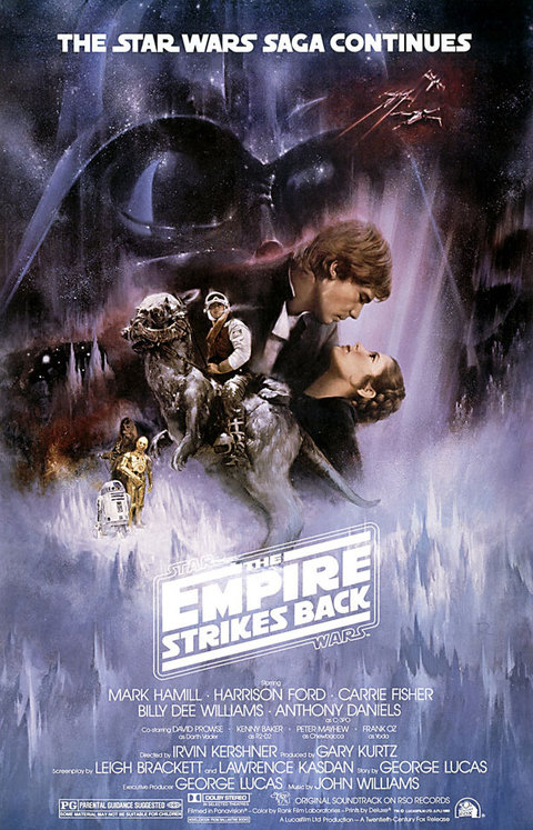 Star Wars Empire Strikes Back V Movie Poster