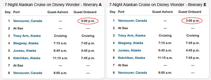 Dcl Adds Itinerary E To Better Define The 2016 Alaskan