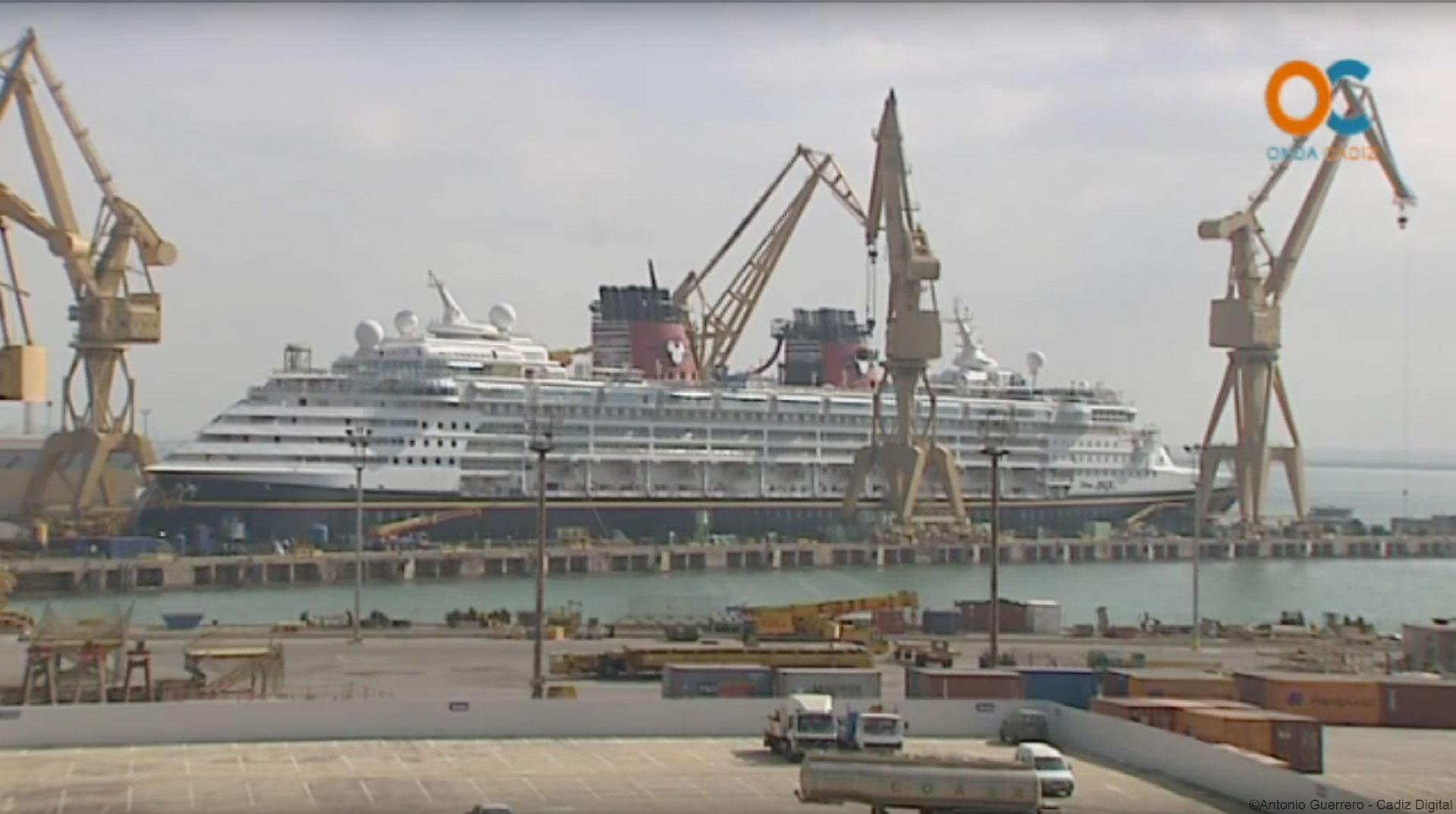 Disney Magic 2015 Dry Dock Cadiz Digital Wide Shot