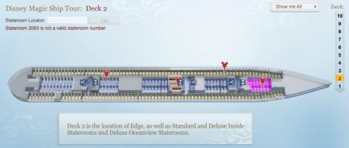 Disney Magic Ship Tour Deck 2 Not Updated